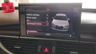 Audi A6 2013 Model Air Suspension lock before wheel change