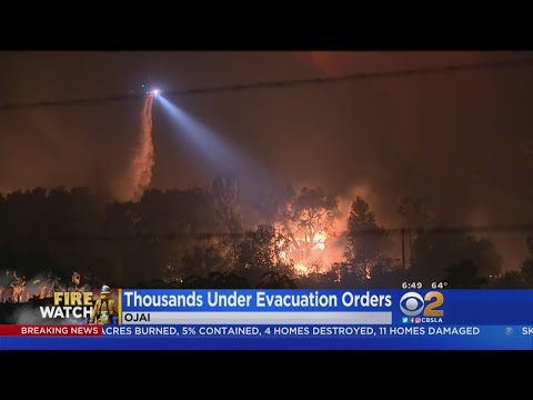 Firefight Intensifies As Thomas Fire Descends On Ojai