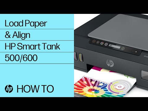 Loading Paper and Printing an Alignment Page on the HP Smart Tank 500 and 600 Printer Series