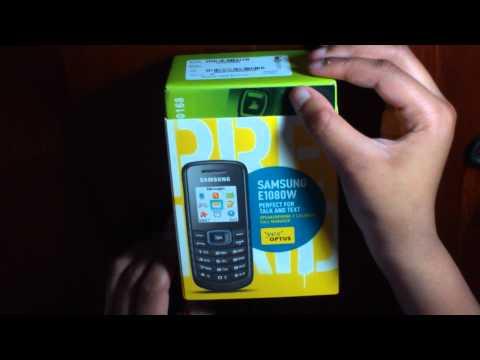 Samsung E1080 Quick Unboxing - 1080P