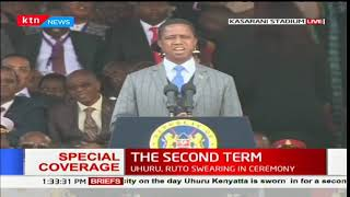 Zambian President, Edgar Lungu represents the heads of state during the inauguration ceremony
