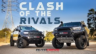 ⚔ CLASH OF THE RIVALS ⚔// Ford Ranger Vs Toyota Hilux Wheels, Tyres, Rival Bar, Lift Kit & More