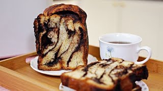 Chocolate Swirl Bread (Babka) - Panasonic Bread Maker SD-P104 - Recipe By ZaTaYaYummy