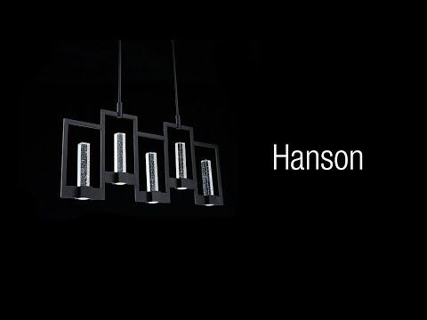 Video for Hanson Black Two-Light LED Mini Pendant