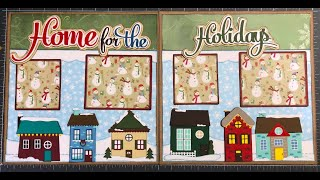 Home For The Holidays, 2 Page 12x12 Scrapbook Layout