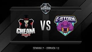 CREAM ESPORTS VS ESTORM | Jornada 12 | División de Honor 2019 - Apertura