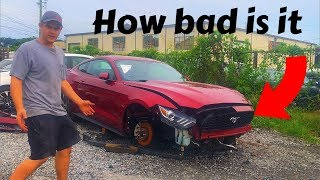 Rebuilding A 2015 ford mustang Part 1