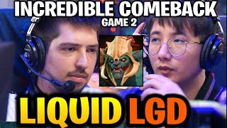 LIQUID vs LGD (Game 2) 19K GOLD INCREDIBLE COMEBACK! TI9 Dota 2