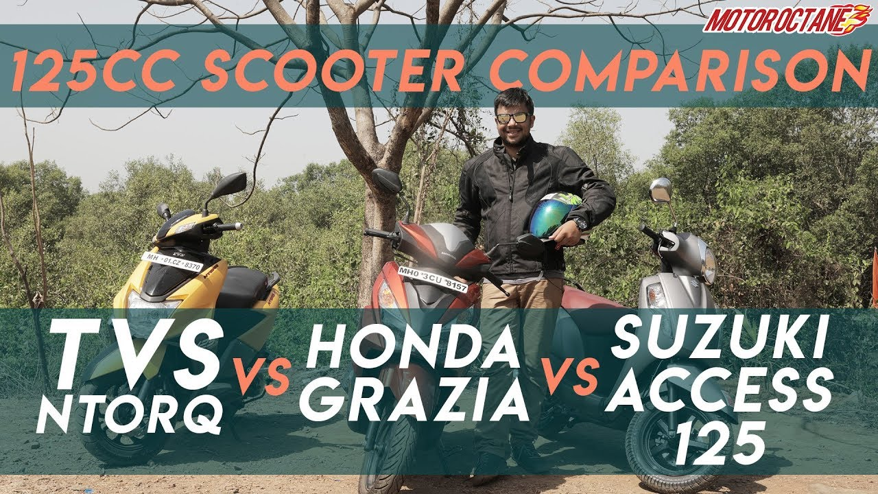 Motoroctane Youtube Video - TVS NTorq vs Suzuki Access vs Honda Grazia Comparison in Hindi | MotorOctane