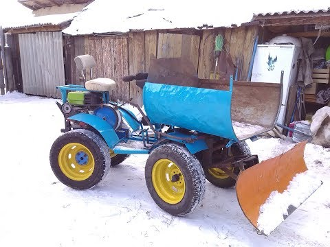 мини трактор задний привод переломка  нива мб 2  на жигулёвских калёсах обзор