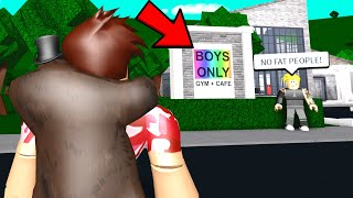 He Had A BOYS ONLY Gym.. But I EXPOSED His UNHEALTHY SECRET! (Roblox)