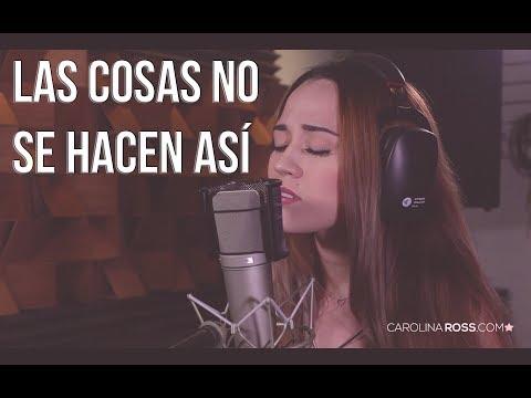 Las cosas no se hacen así - Banda MS (Carolina Ross cover) En Vivo Sesión Estudio