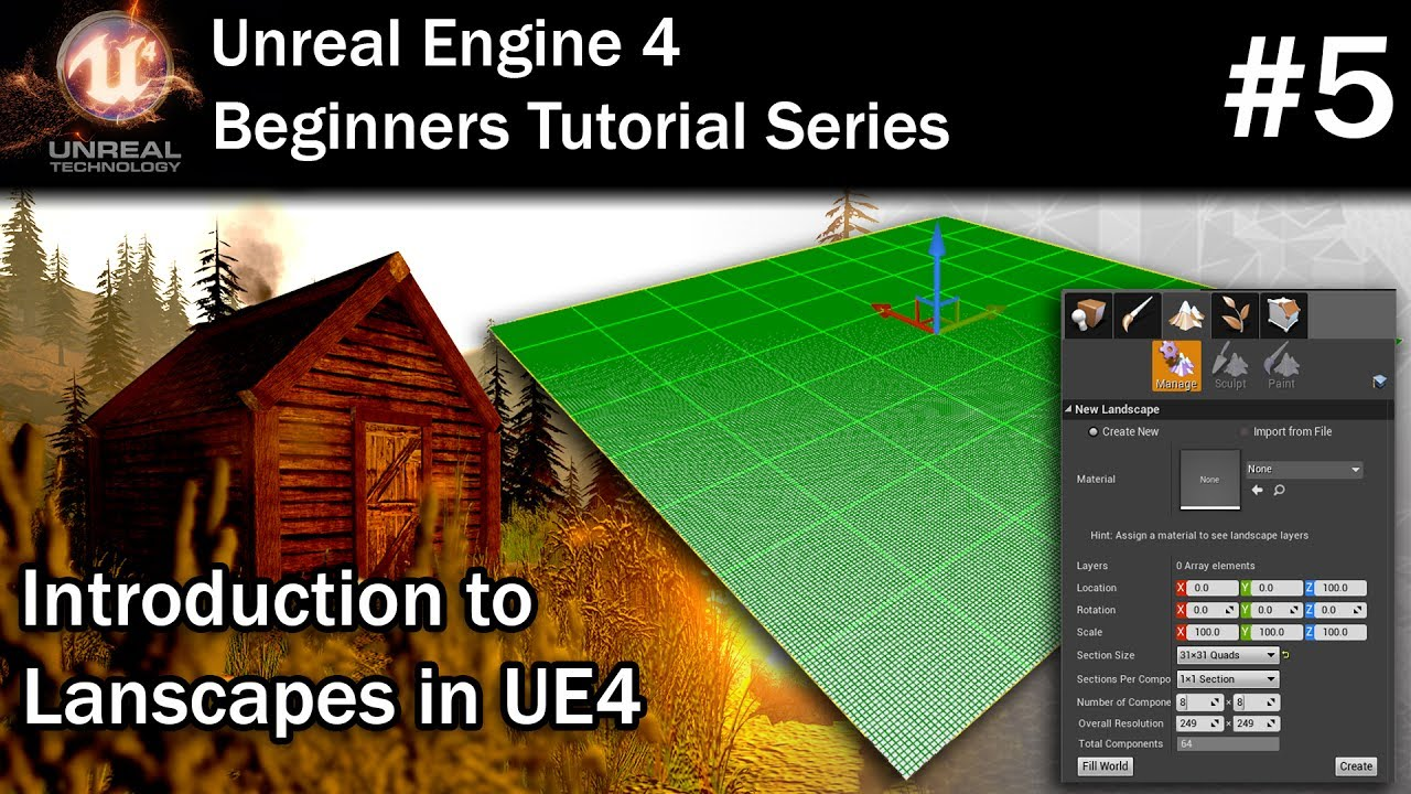 #5 How to Create a New Landscape in Unreal Engine 4 | Unreal Engine 4 Tutorial for Beginners