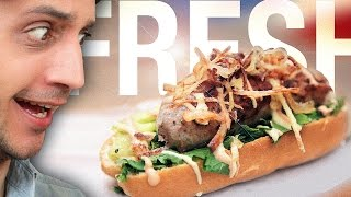 Fresh & French Hot Dog in Paris ! Size doesn't matter. Well¦ Dusting off French Food