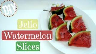 HOW TO MAKE A JELLO WATERMELON !! Diy Gummy Jello Watermelon Slices