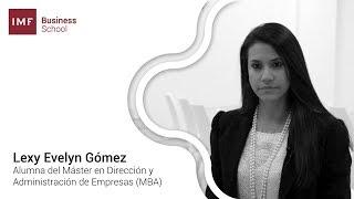 Opinión alumna del MBA de IMF