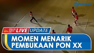 Mengingat Momen Menarik Pembukaan PON XX Papua, Presiden Jokowi Main Bola dan Lari ke Tengah Stadion
