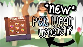 ADOPT ME *NEW* pet wear update! ~