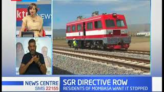 Mvita MP Abdulswamad Nassir speaks on the SGR cargo directive