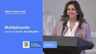 La primera dama de Colombia aplaude el esfuerzo y éxito del V Congreso Iberoamericano sobre síndrome