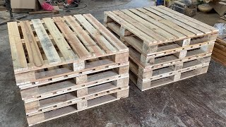 6 Amazing Woodworking Projects From Old Pallets Most Worth Watching - Cheap Furniture From Pallets