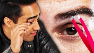 Men Tweeze Their Own Eyebrows For The First Time