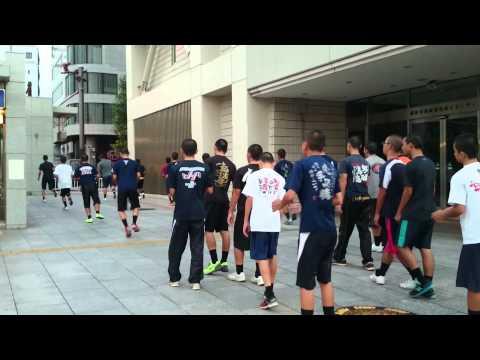 豊見城中学校野球部 全国大会 準々決勝の朝4時40分からアップ