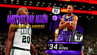 NBA 2K17 My Team PULLED AMETHYST RAY ALLEN BEST SHOOTER IN GAME!! Ray Allen Highlights!