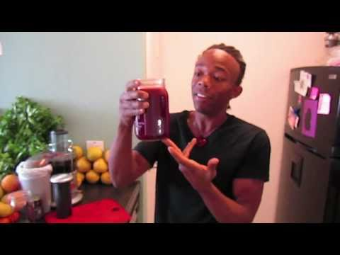 """Video Power Juice Feast and Cleanse Day #17 - """"The Red Rumbler Juice"""""""