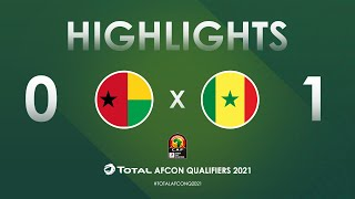 HIGHLIGHTS   Total AFCON Qualifiers 2021   Round 4 - Group I: Guinea-Bissau 0-1 Senegal