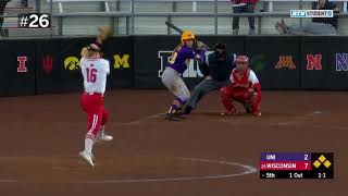 Top 40 Defensive Plays Of The Year | 2019 B1G Softball