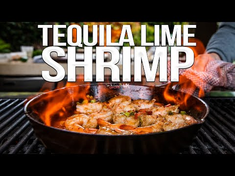 Quick and Easy Tequila Lime Shrimp Recipe | SAM THE COOKING GUY 4K