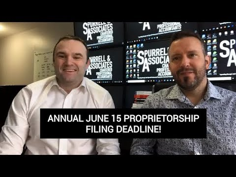 Annual June 15 Proprietorship Deadline