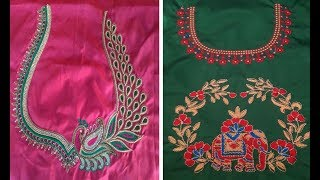 New Embroidery Design 2018 For Blouse म फ त ऑनल इन