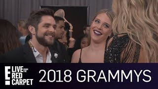 """Thomas Rhett Gushes Over """"Amazing"""" Daughters At 2018 Grammys 