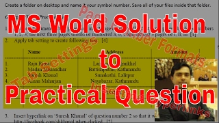 Solution to Different Page Number Formats, Tab Settings & Hyperlink  - MS Word Set 06