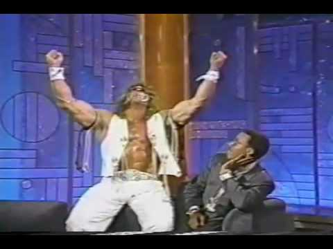 , title : 'The Ultimate Warrior Meets Arsenio Hall'