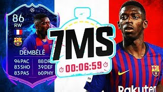 INSANE ROAD TO THE FINAL DEMBELE!! 7 MINUTE SQUAD BUILDER - FIFA 20 ULTIMATE TEAM