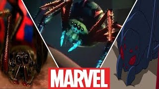 Evolution of  Radioactive Spider Biting Peter Parker in Movies,Cartoons and Games (2019)