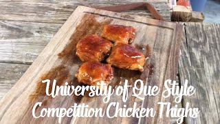 Perfectly Cooked Competition Chicken Thighs | Chicken Thighs on the Primo XL400