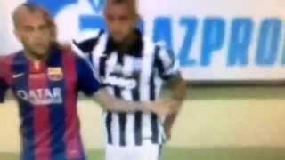 ビダルとアウベスの強面対決wwwJuventusxBarcelonaFinalChampionsLeague2015/06/06
