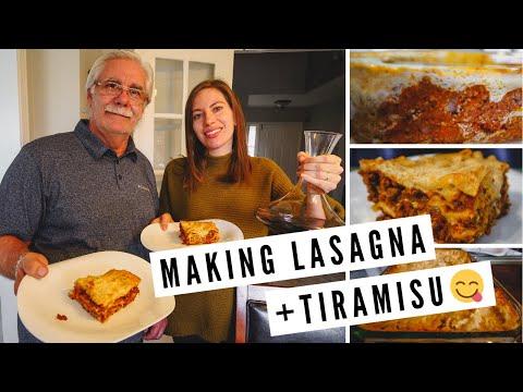 , title : 'Cooking LASAGNA (Meat & Vegetarian) + TIRAMISU   Making Delicious and Easy ITALIAN FOOD at Home!