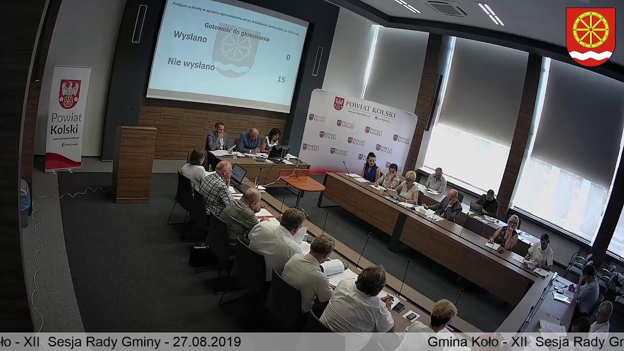 Zdjęcie do XII Sesja Rady Gminy Koło