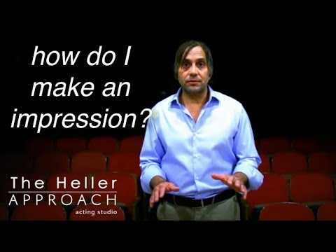 Free Acting Lesson: How To Make An Impression
