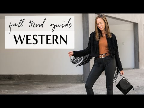 How To Wear The WESTERN TREND I Fall Trend Guide