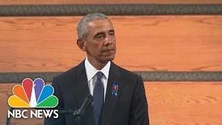 Obama Eulogizes John Lewis