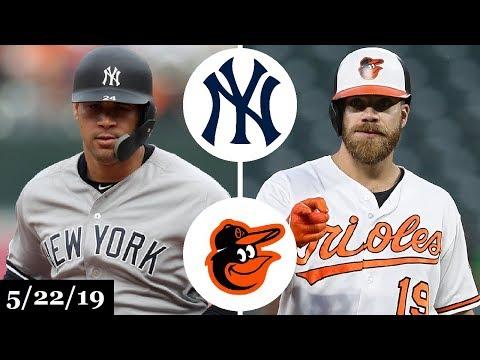 New York Yankees vs Baltimore Orioles - Full Game Highlights | May 22, 2019 | 2019 MLB Season
