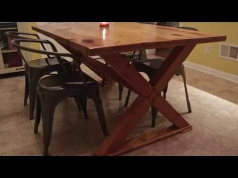 Puzzle Joint Farm Table by Hosey's Workshop