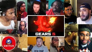 Live Reaction: GEARS OF WAR 5 trailer | E3 2018 | Youtubers Synched Compilation