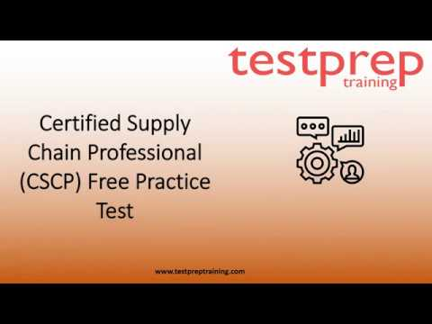 Certified Supply Chain Professional free Practice test ... - YouTube